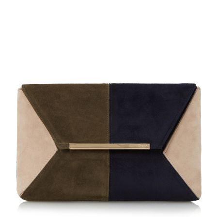 Dune Batch colourblock clutch