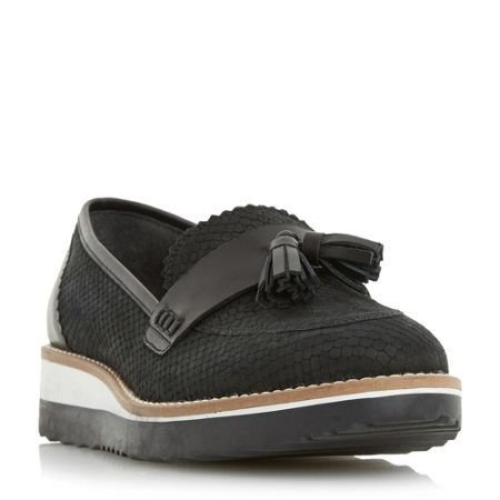 Dune Ghost twin flatform loafers