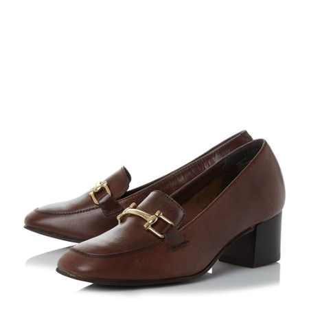 Linea Alfrayda horsebit trim court shoes