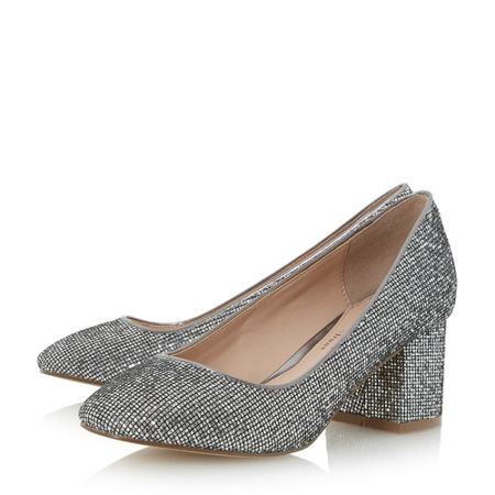 Head Over Heels Agnitha block heel court shoes