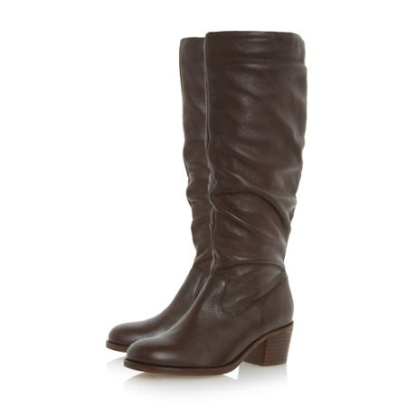 Linea Tappling ruched knee high boots