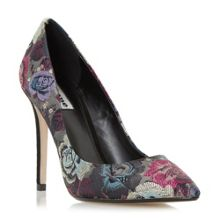 Dune Brocade tapestry pointed toe court shoes