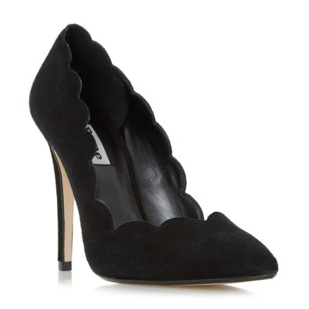 Dune Athena high scalloped court shoes