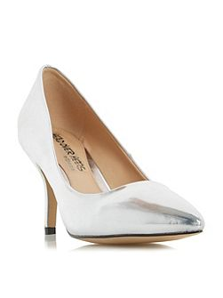 Andrina pointed toe mid heel court shoes