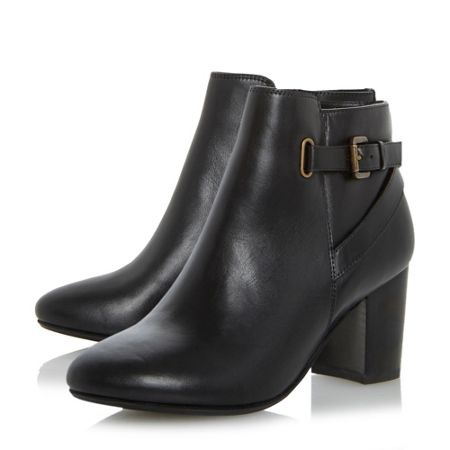Linea Oppal buckle strap ankle boots