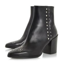 Dune Black Parlow stud ankle boots