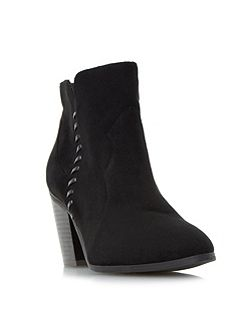 Pandoro whipstitch heeled ankle boots