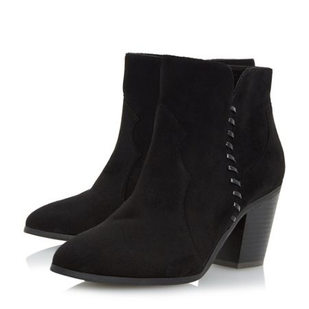 Head Over Heels Pandoro whipstitch heeled ankle boots
