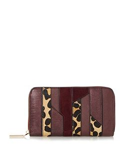 Kay patchwork zip around purse