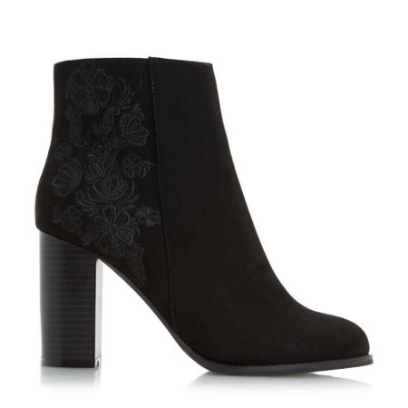 Head Over Heels Paradisea embroidery heeled ankle boots