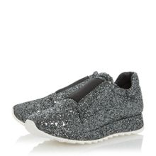 Dune Black Eccentric all over glitter trainers