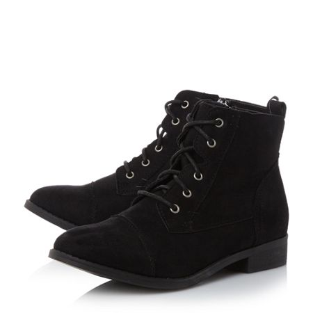 Head Over Heels Paola toecap detail lace up ankle boots