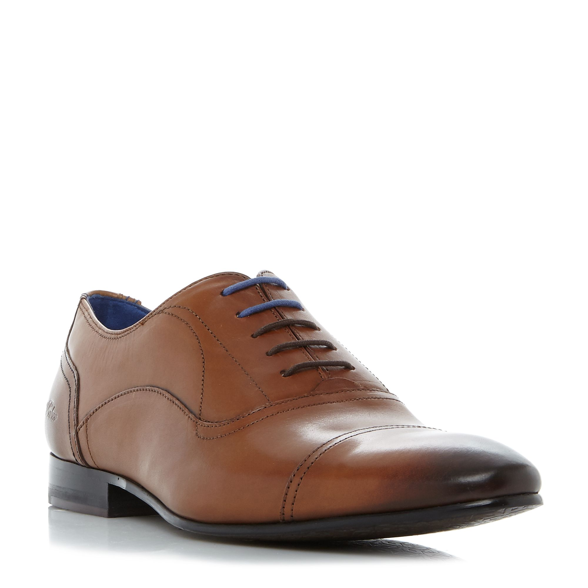 Ted Baker Umbber high shine toecap oxford shoes Tan