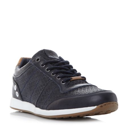 Dune Texas mesh panel lace up trainers