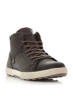 Sherwood emboss panel high top trainers