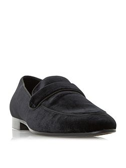 Runaway velvet loafer shoes