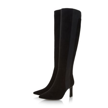 Dune Saffi pointed toe knee high boots