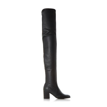 Dune Sapphire block heel over the knee boots