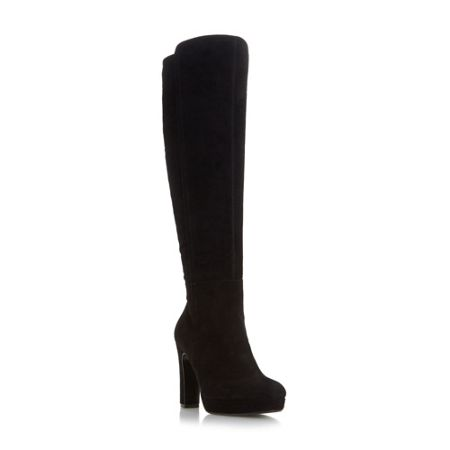 Dune Saylor pointed toe knee high boots