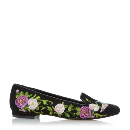 Dune Growe embroidered loafer shoes
