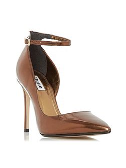 Clementine ankle strap court shoes