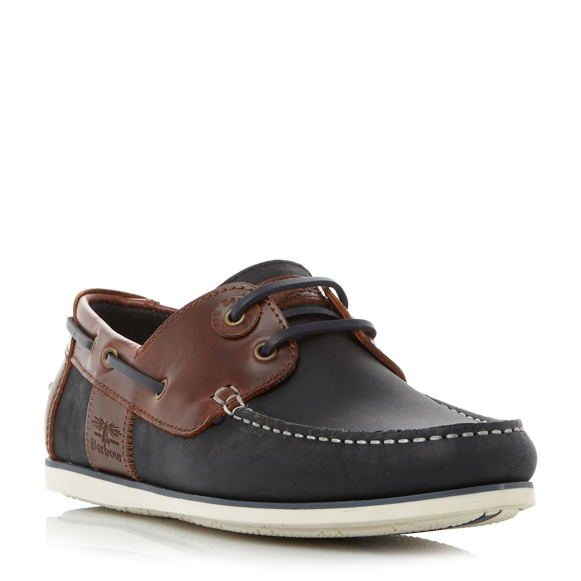 Barbour Capstan eyelet lace up boat shoes Dark Blue