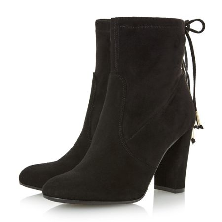 Dune Orchid sibyl ankle tie back boots