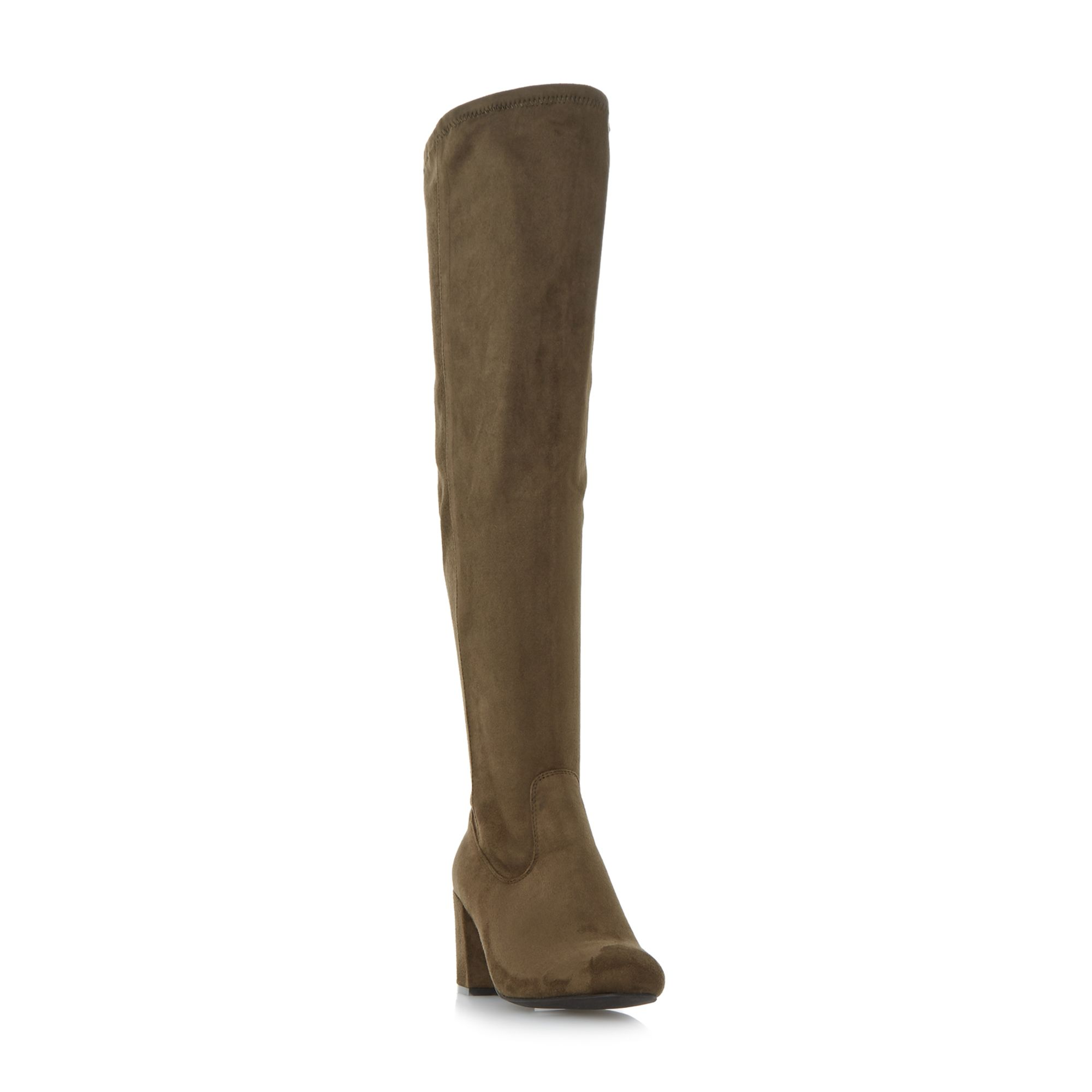 Head Over Heels Timmi stretch knee high boots Green