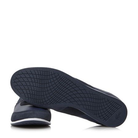 Lacoste Embrun perforated detail leather trainer