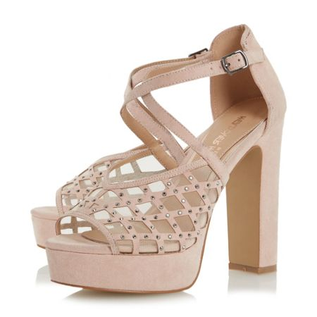 Head Over Heels Mystique rhinestone platform sandals