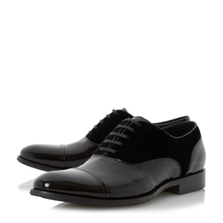 Dune Reefer velvet/patent oxford shoes