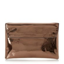 Dune Berlyn chevron clutch bag