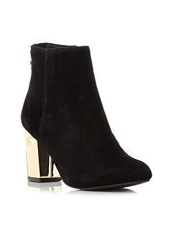 Cynthia-g sm gold heel ankle boots