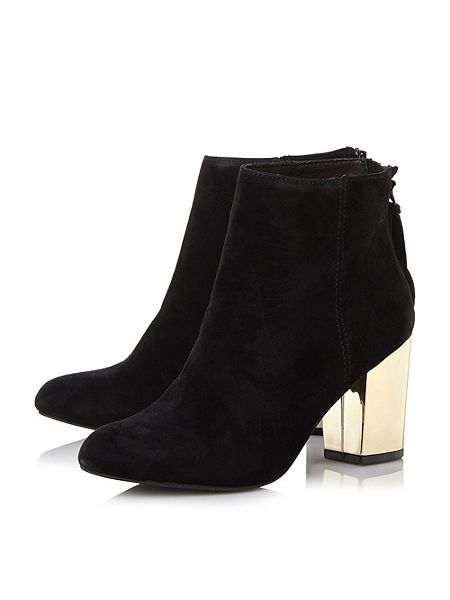 Steve Madden Cynthia-g sm gold heel ankle boots Black - House of ...