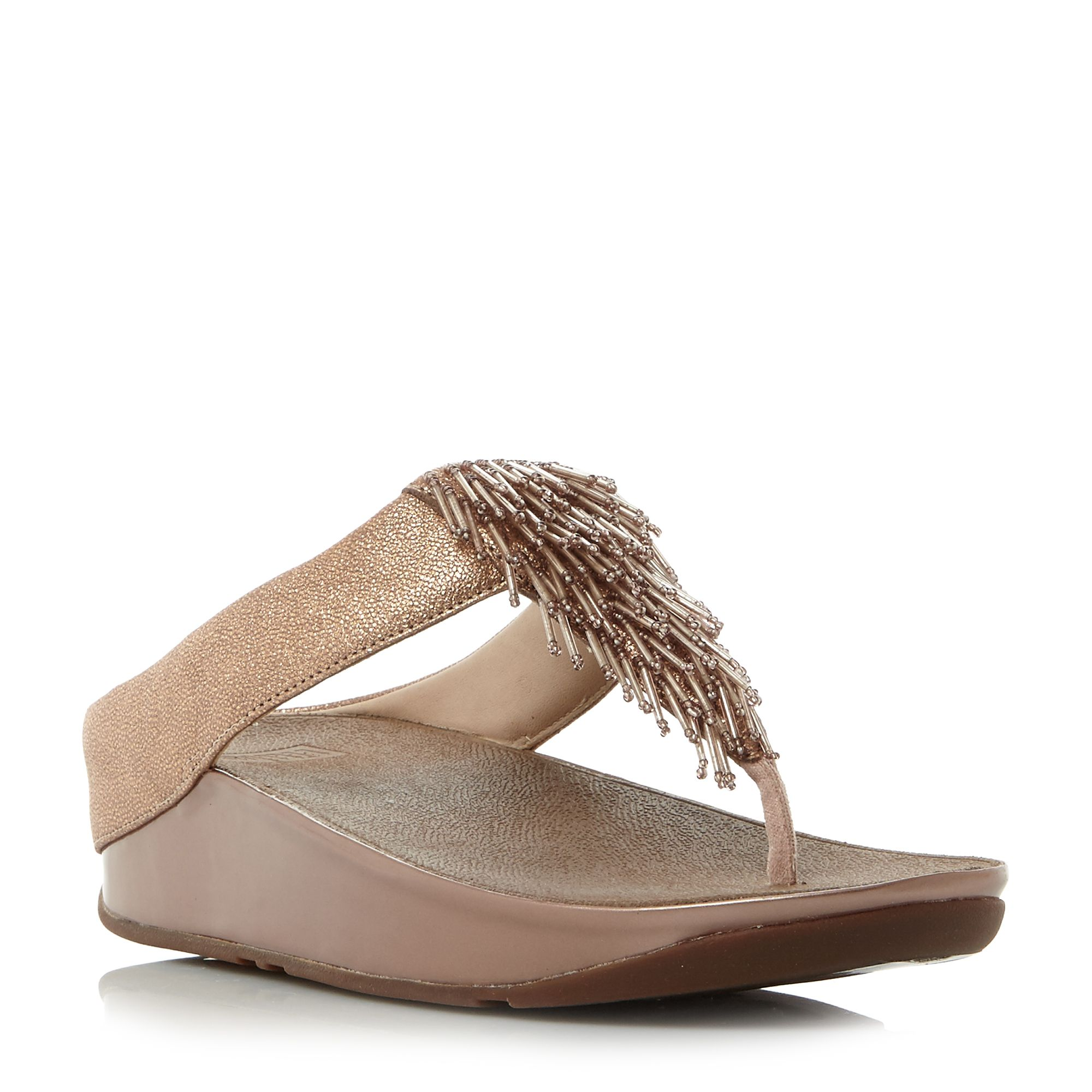FitFlop Cha cha wedge sandals, Rose Gold