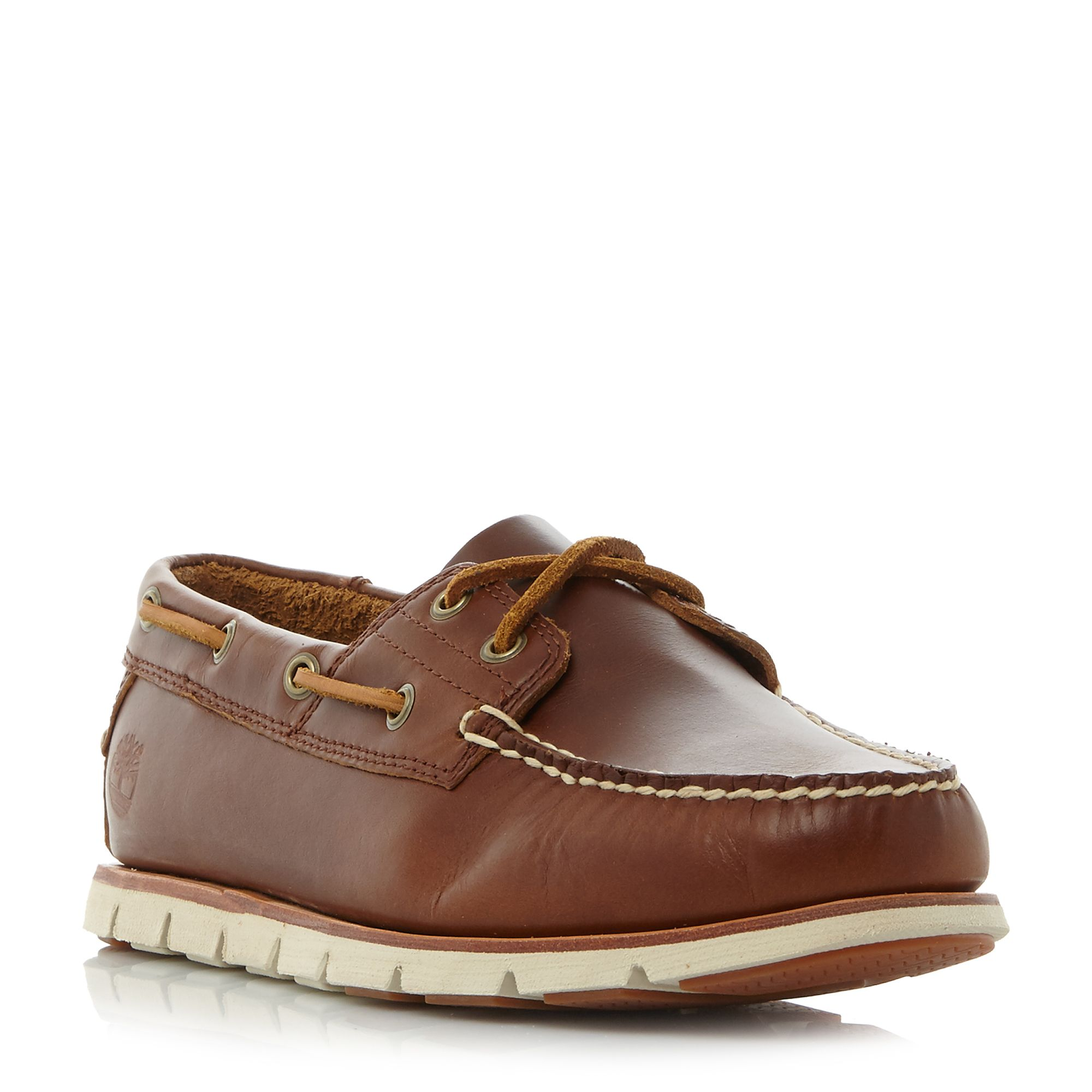Timberland A1bhl cleated sole boat shoe Tan