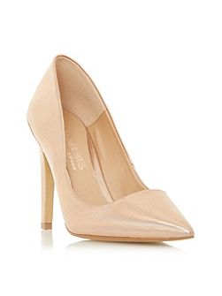 Addelyn metal heel trim court shoe