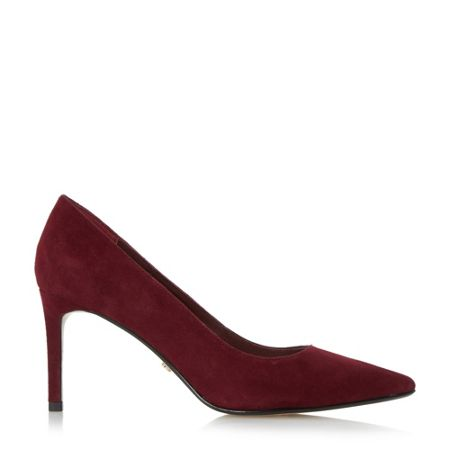 Dune Abbigail mid heel pointed court shoes