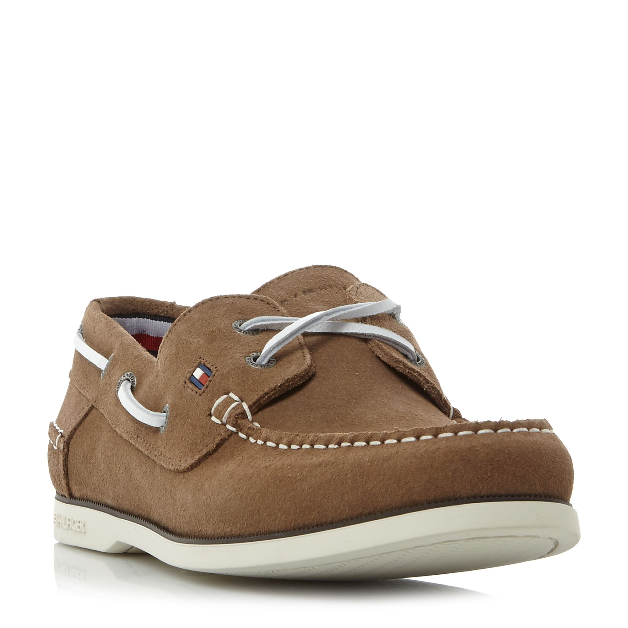 Tommy Hilfiger Knot 1b suede boat shoes Taupe