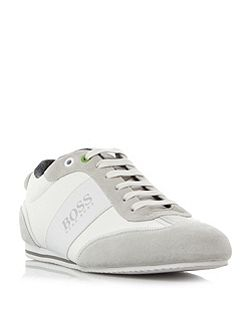 Lighter low chambray leather trainers