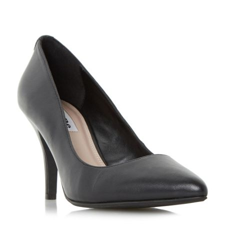 Dune Aeryn mid heel pointed toe court shoes