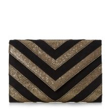 Dune Balinda glitter mix clutch bag