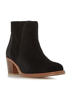 Pearson stacked heeled ankle boots