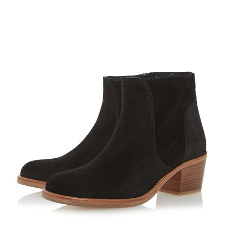 Dune Pearson stacked heeled ankle boots