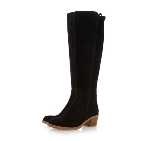 Dune Twitchell block heel knee high boots