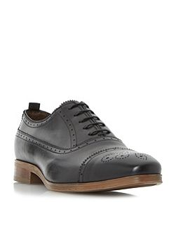 Renaissance punched toecap lace up shoes