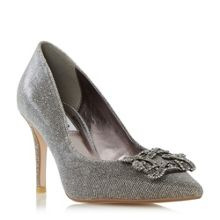 Dune Betti jewelled mid heel court shoes