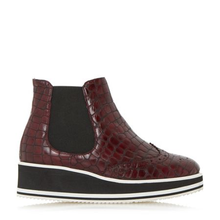 Dune Black Patrol brogue chelsea ankle boots