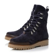 Dune Black Pace crepe hiker boots