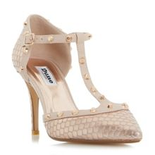 Dune Cliopatra studded court shoes